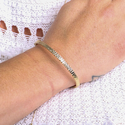 Toscano Diamond Cut Bangle Bracelet 14K