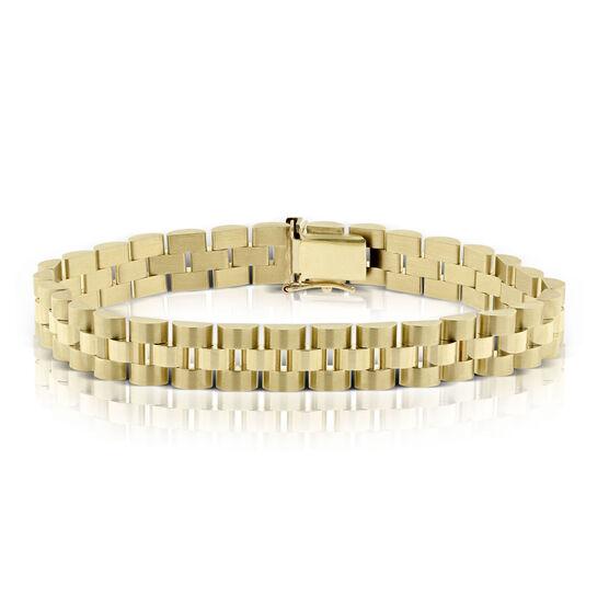 "Toscano President Link Bracelet 14K, 8"""