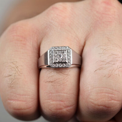 Men's Diamond Ring 14K