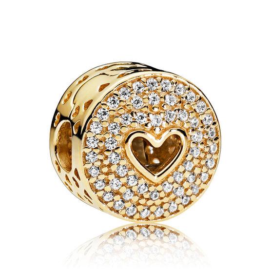 PANDORA Heart of Luxury CZ Clip 14K