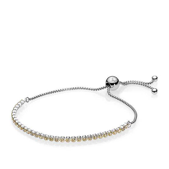 Pandora Golden Sparkling Strand Cz Bracelet 590524ccz
