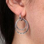 Double Circle Hoop Earring 14K