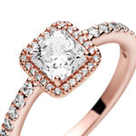 Pandora Rose™ Square Sparkle Halo CZ Ring