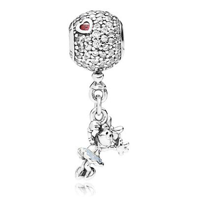 PANDORA Disney, Floating Minnie Dangle Enamel & CZ Charm