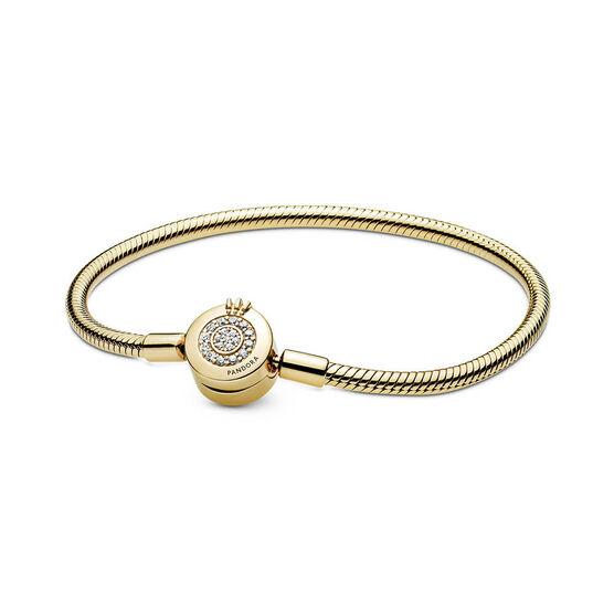 Pandora Shine™ Moments Sparkling CZ Crown O Snake Chain Bracelet