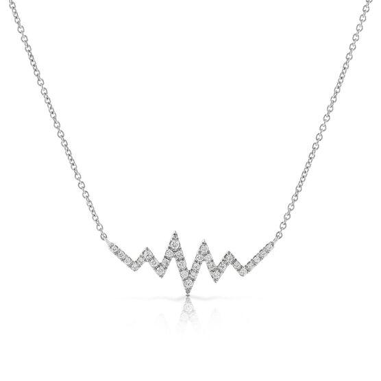 Diamond Heartbeat Necklace 14K