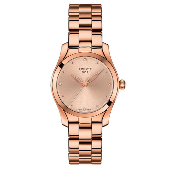 Tissot T-Wave T-Lady Rose PVD Quartz Diamond Watch, 32mm