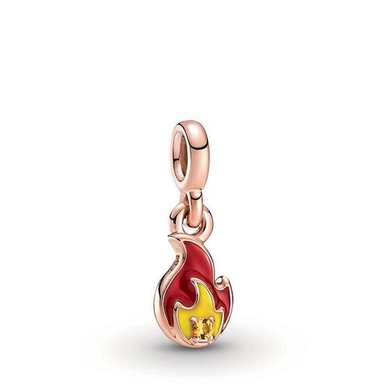 Pandora ME Mini Burning Flame Enamel Dangle Charm