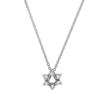 Roberto Coin Tiny Treasures Diamond Star Of David Necklace 18K