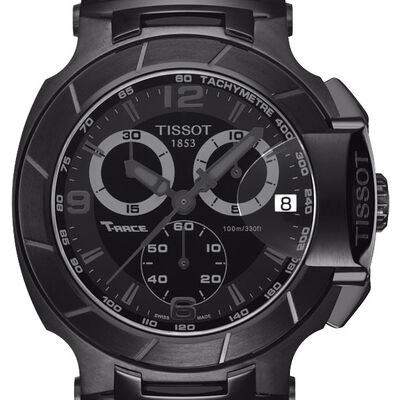 Tissot T-Race Chronograph Black PVD Quartz Watch, 50mm