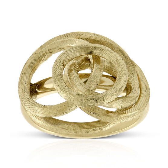 Toscano Satin Swirl Ring 14K