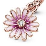 Pandora Rose™ Pink Daisy Flower Enamel & CZ Dangle Charm