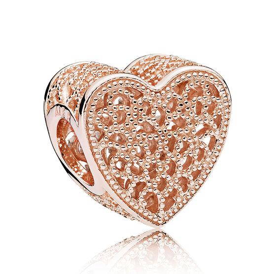 Pandora Filigree & Beaded Heart Charm
