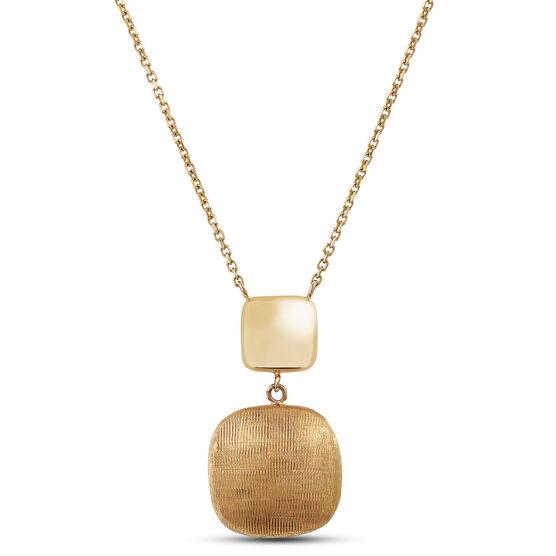Toscano Square Drop Necklace 14K