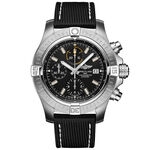 Breitling Avenger Chronograph 45 Black Leather Watch, 45mm