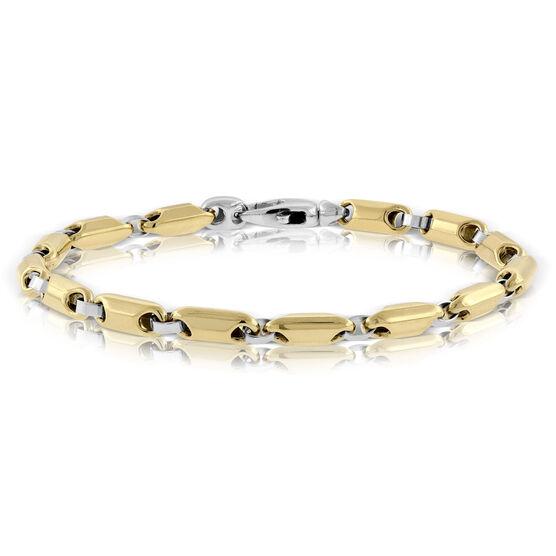 Toscano Stampato White & Yellow Bracelet 14K