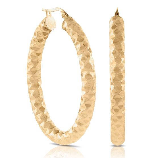 Toscano Oval Hoop Earrings 14K