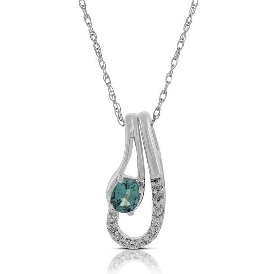 Swirl Alexandrite & Diamond Pendant 18K