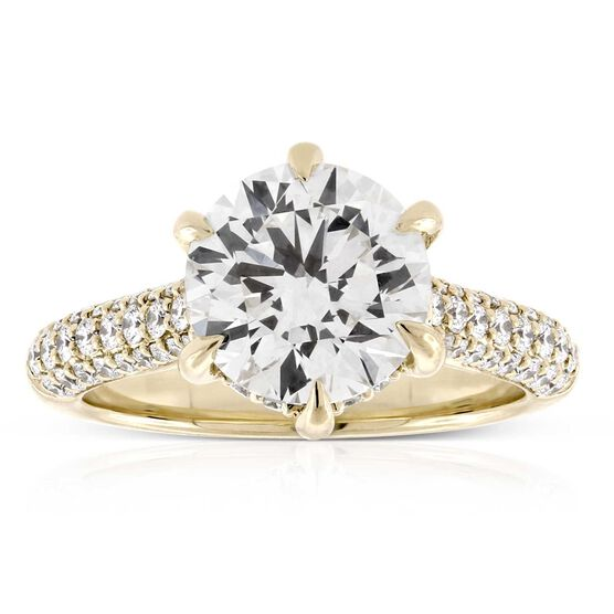 Ikuma Canadian Diamond Engagement Ring 14K, 3.01 Center