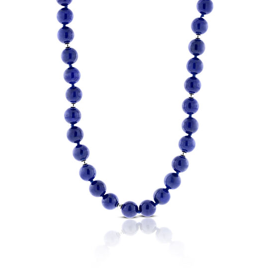 Lisa Bridge Lapis Bead Necklace