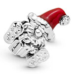 Pandora Seated Santa Claus & Present Enamel Charm