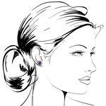 Amethyst & Diamond Flower Earrings 14K
