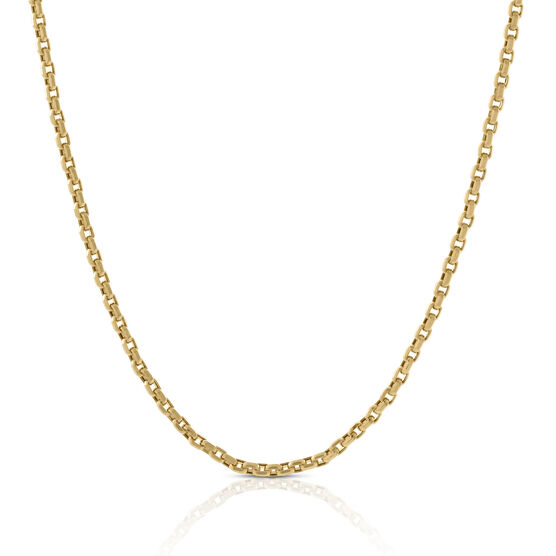 """Eight-Sided Rolo Chain 14K, 24"""""""