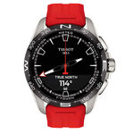 Tissot T-Touch Connect Solar Red Rubber Titanium Watch, 47.5mm