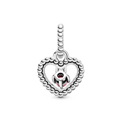 Pandora Purely Pandora Petal Pink Crystal Beaded Heart Dangle Charm