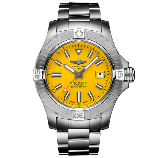 Breitling Avenger Automatic 45 Seawolf Yellow Steel Watch, 45mm