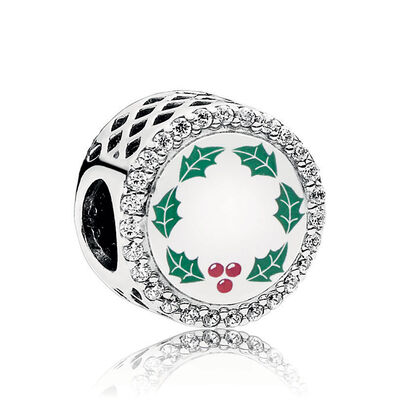 PANDORA 'All I Want For Christmas' Enamel & CZ Charm