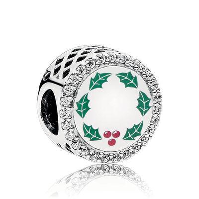 Pandora 'All I Want For Christmas' Enamel & CZ Charm