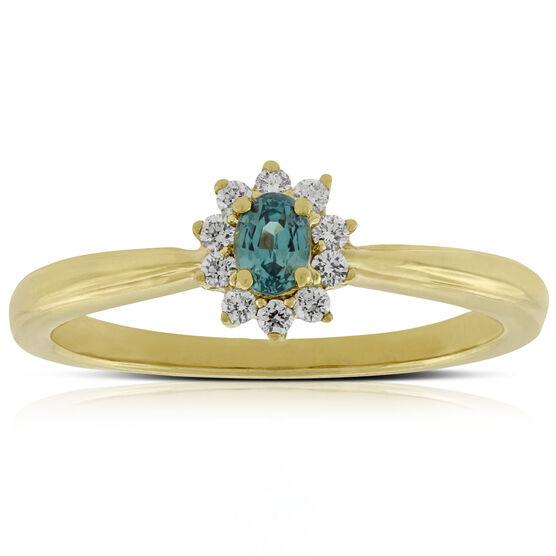 Alexandrite & Diamond Ring 18K