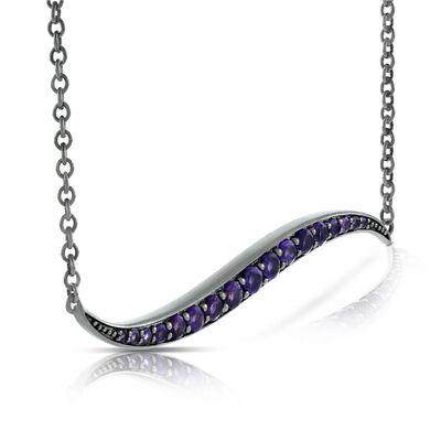 Lisa Bridge Amethyst Wave Necklace
