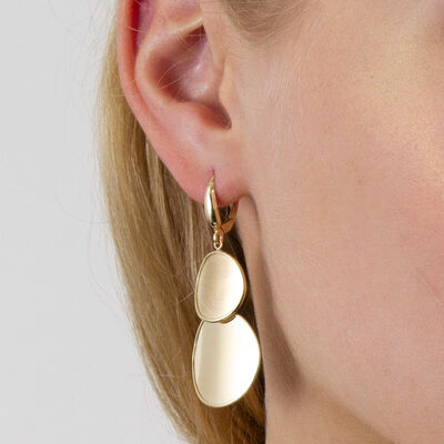 Toscano Double Disc Earrings 14K