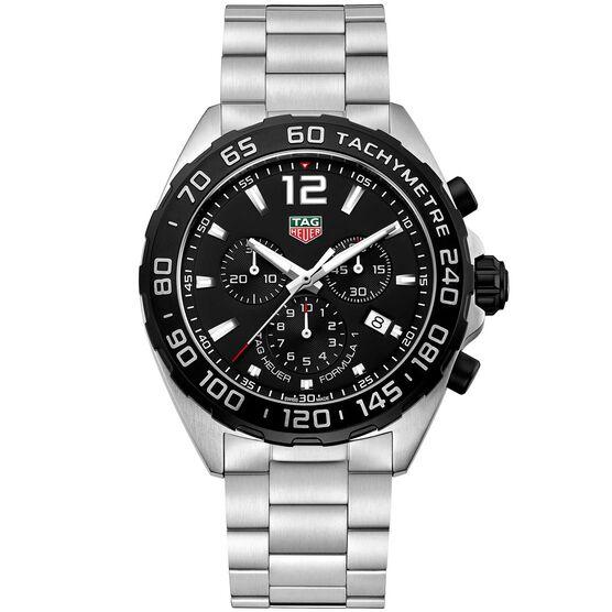 TAG Heuer Formula 1 Quartz Mens Black Steel Chronograph Watch