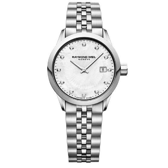 Raymond Weil Freelancer Ladies Diamond Dial Quartz Watch, 29mm