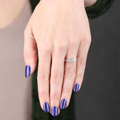 Love Eternal 3-Stone Diamond Cluster Ring 14K