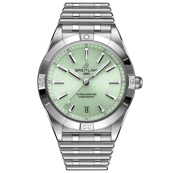 Breitling Chronomat Automatic 36 Mint Green Steel Watch, 36mm
