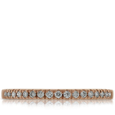 Rose Gold Diamond Band 14K