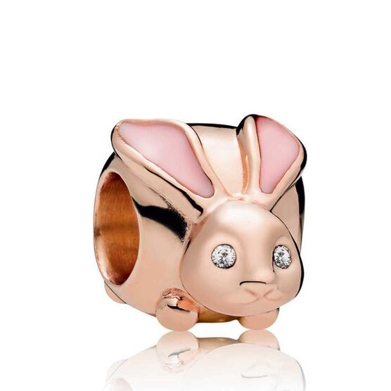 Pandora Rose™ Cute Bunny Enamel & CZ Charm