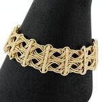 Toscano Interwoven Link Bracelet 14K