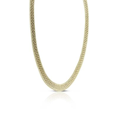 Toscano Triple Row Rope Necklace 14K