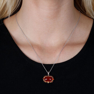 Lisa Bridge Carnelian Gemstone Pendant
