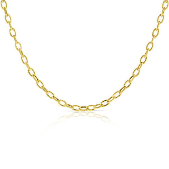 Oval Link Necklace 14K, 18""