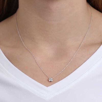 Bezel Set Diamond Necklace 14K, 1/2 ctw.