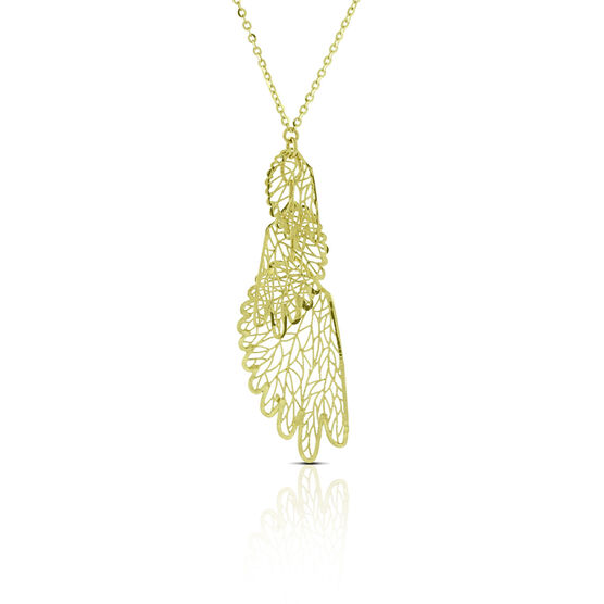 Filigree Wing Necklace 14K
