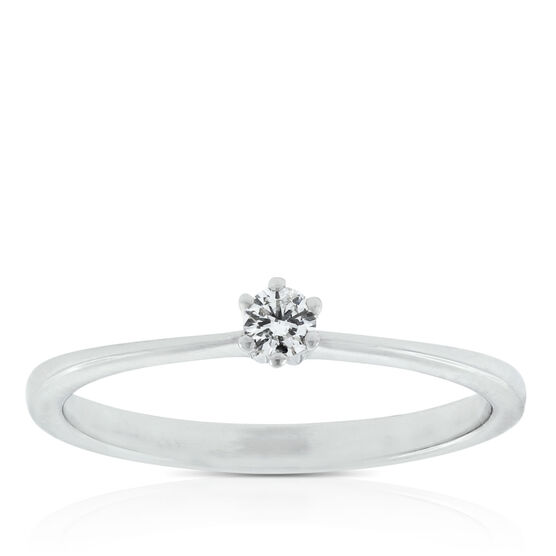 Dainty Diamond Ring 14K