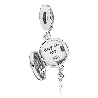 PANDORA Regal Love Key CZ Charm
