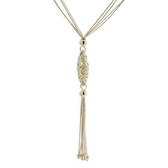 Toscano Lariat Necklace 14K